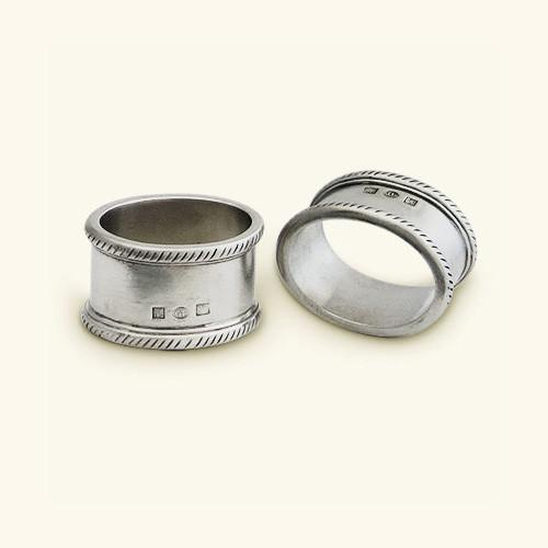 Luisa Oval Napkin Ring, Set of 2 by Match Pewter