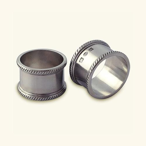 Luisa Round Napkin Ring, Set of 2 by Match Pewter