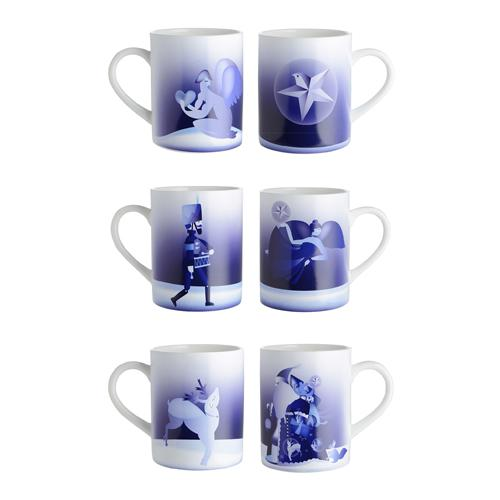 Blue Christmas Mugs by Alessi