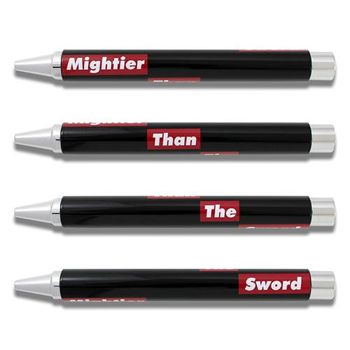 Mightier Than The Sword Retractable Stylo 33 Rollerball Pen by Acme Studio