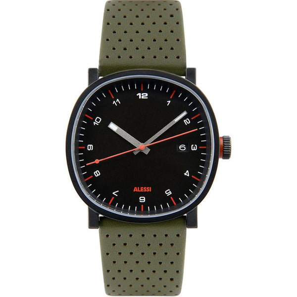 AL5042 Tic15 Black/Green Watch by Piero Lissoni for Alessi