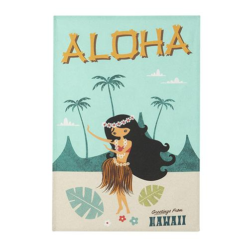 Aloha Hawaii Tea Towel by MISTERATOMIC