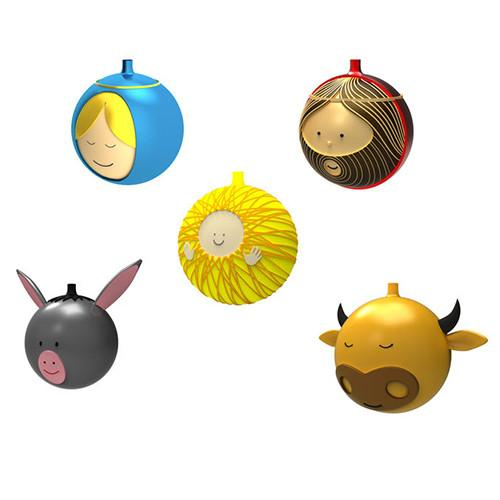 Christmas Ornaments, Set of 5 by Alessi