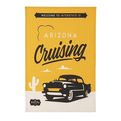 Arizona Cruising Tea Towel by MISTERATOMIC