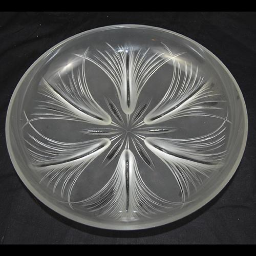 Art Deco Papyrus Pattern Glass Bowl by Verlys