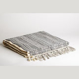 Earth Lines Stripes Luxury Hand Woven Turkish Cotton Towel, Set of 2