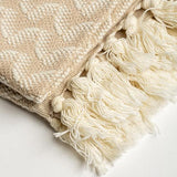 Silent Ripple Waves Luxury Hand Flat Woven Turkish Cotton Towel, Set of 2