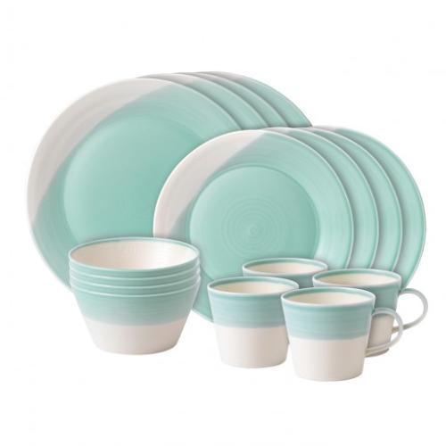 1815 Aqua 16-Piece Set by Royal Doulton