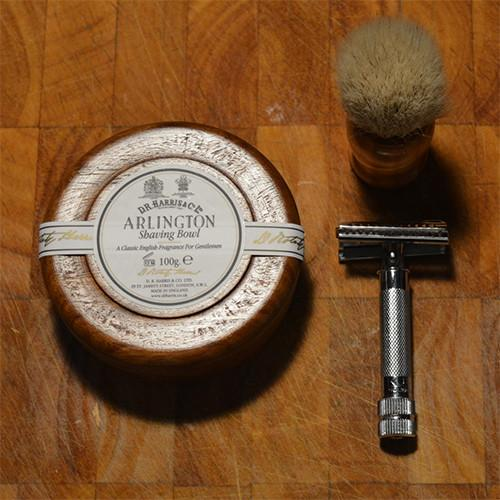 Arlington Shaving Soap in Wooden Bowl by D.R. Harris