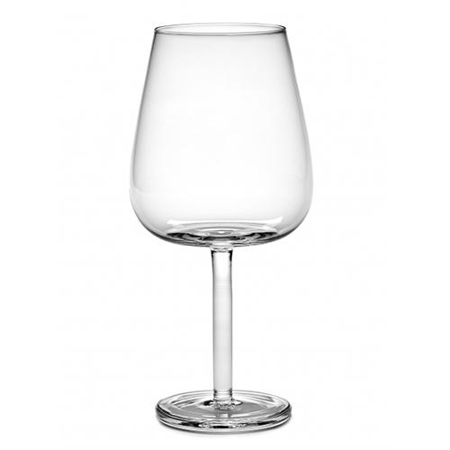 Base Red Wine 22 oz Stemmed Curved Glass by Piet Boon for Serax, Set of 4