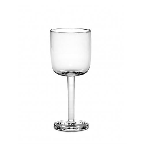 Base White Wine 9 oz Stemmed Straight Glass by Piet Boon for Serax, Set of 4