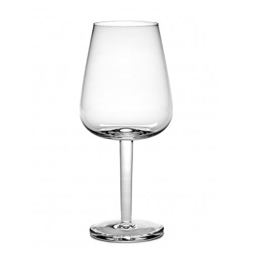 Base White Wine 17 oz Stemmed Curved Glass by Piet Boon for Serax, Set of 4