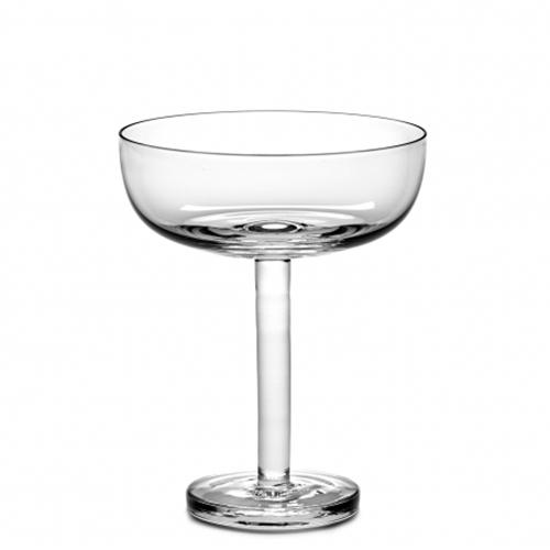 Base Champagne Coupe 8.5 oz Stemmed Glass by Piet Boon for Serax, Set of 4