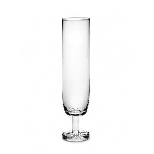 Base Champagne Flute 7.1 oz Stemmed Glass by Piet Boon for Serax, Set of 4
