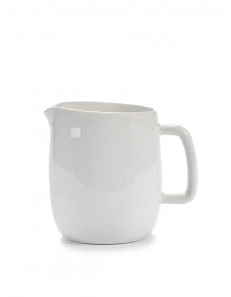 Passe Partout Jug with Handle, Glazed White, 25.4 oz. by Vincent van Duysen for Serax