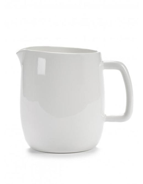 Passe Partout Jug with Handle, Glazed White, 50.7 oz. by Vincent van Duysen for Serax
