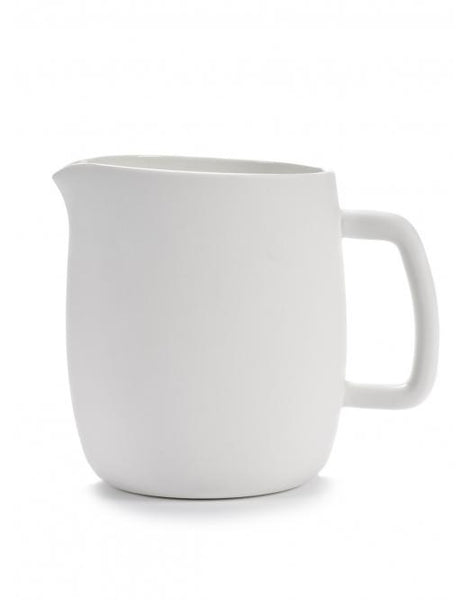 Passe Partout Jug with Handle, Matte White, 50.7 oz. by Vincent van Duysen for Serax