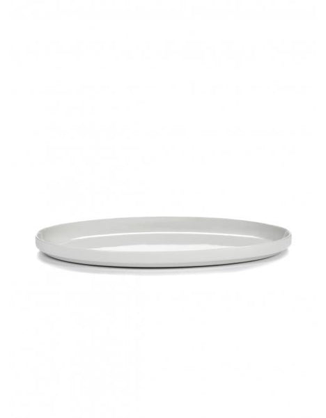 "Passe Partout Oval Platter, Matte White, 11.4"" x 7.1"" by Vincent van Duysen for Serax"