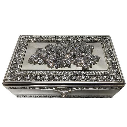 Rectangular Silverplate Jewelry Box with Key by Lisa Carrier Designs