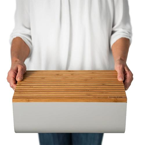 Mattina Bread Box with Cutting Board by Big Game for Alessi