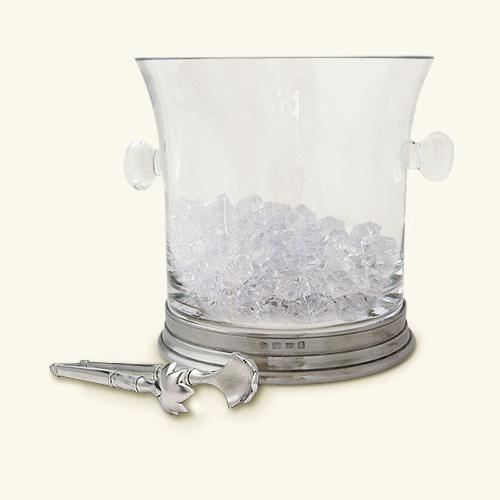 Crystal Ice Bucket with Handles by Match Pewter