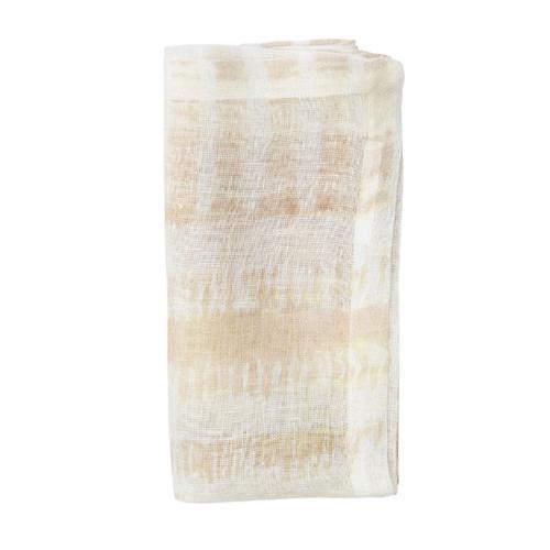 Ivory and Beige Bazaar Cotton Napkin folded