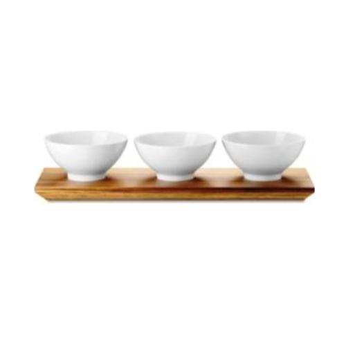 Loft Bowl Set with Acacia Wood Platter by Rosenthal
