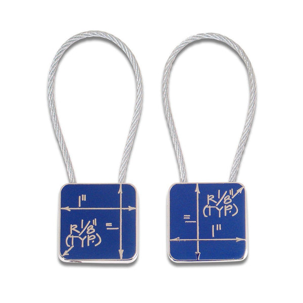 Blueprint Key Ring by Constantin Boym for Acme Studio