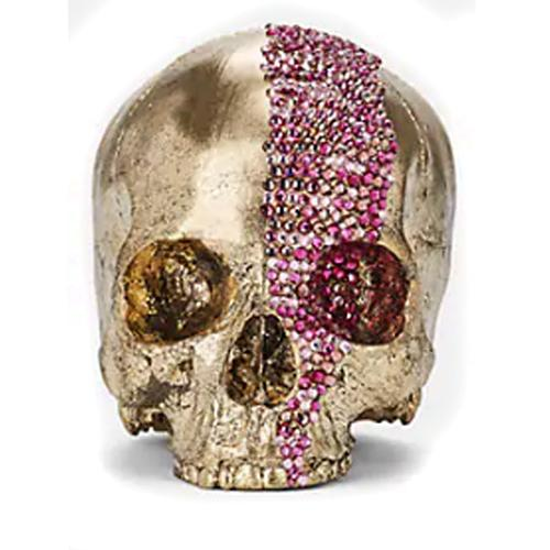 Memento Mori Crystal Cascade Skull by Lisa Carrier Designs