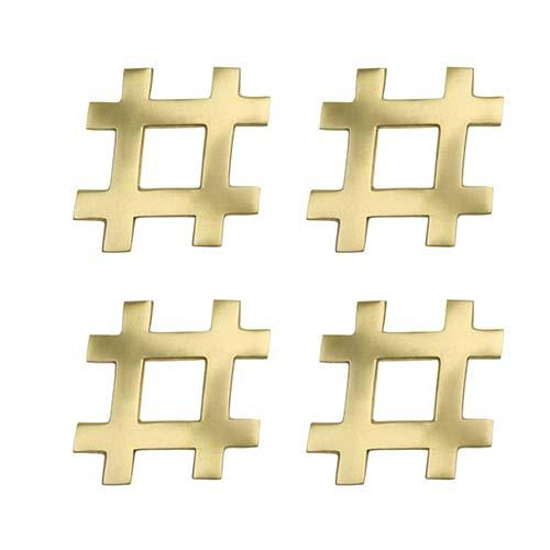 #Hashtag Coasters, set of 4 by Kim Seybert