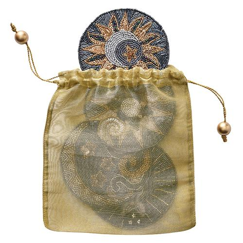 Celestial Coasters in bag by Kim Seybert