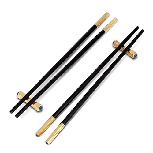 Zen Chopsticks and Rests, Set of 2 Pairs by L'Objet