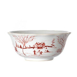 Country Estate Winter Frolic Ruby Cereal/Ice Cream Bowl by Juliska
