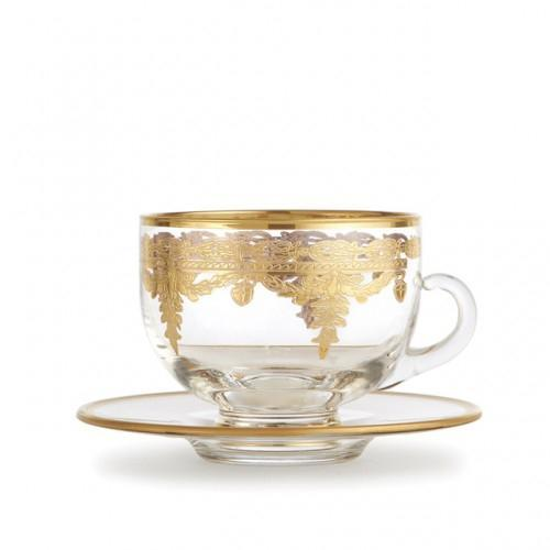 Vetro Coffee Cup & Saucer by Arte Italica