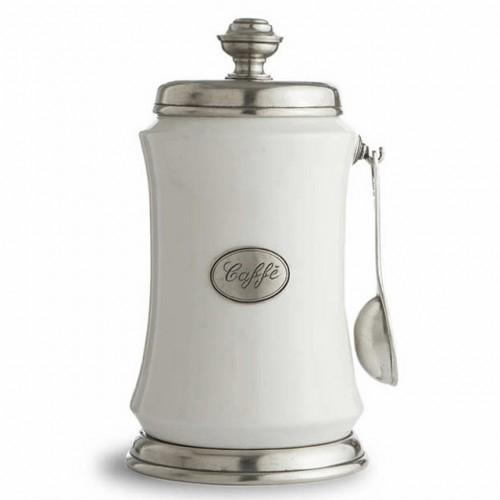 Tuscan Coffee Canister with Spoon by Arte Italica