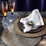 Patina Placemats in a lifestyle image with matching accessories