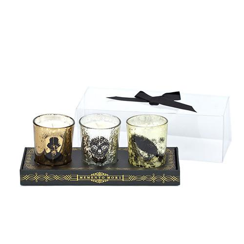Memento Mori Votives, set of 3 by DL & Company