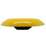 Czechoslovakian Tango Yellow Low Fruit or Console Art Glass Bowl, 11""