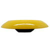 Czechoslovakian Tango Yellow Low Fruit or Console Art Glass Bowl, 11