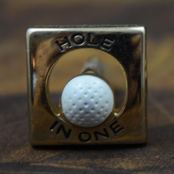 Vintage Swank Hole in One Cufflinks