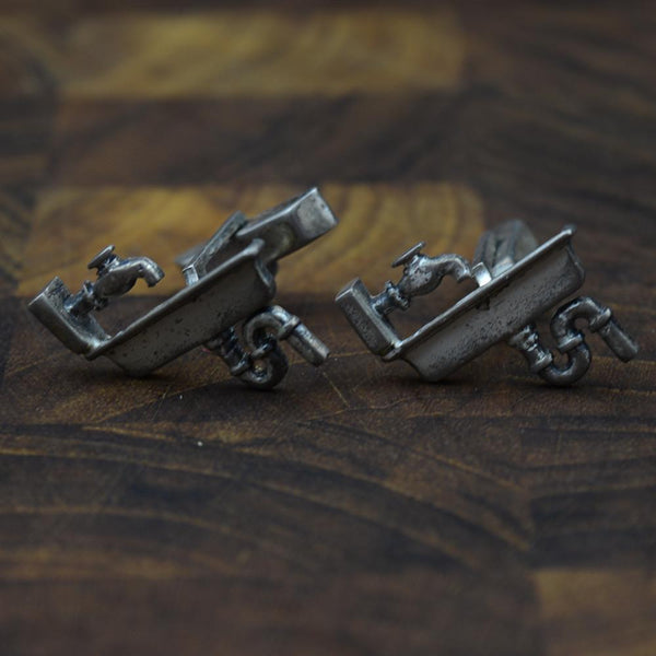 Sterling Kitchen Sink Cufflinks by Fenwick & Sailors