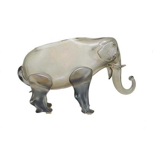 "Loetz: Grey Elephant Art Glass Vase, 11.5"" with A. Rupp Sticker"