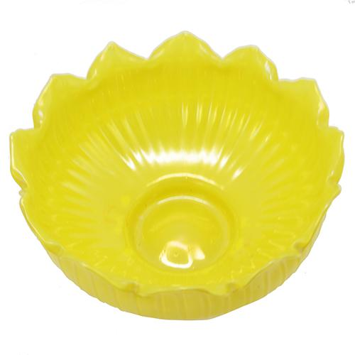 Yellow Lotus Art Glass Bowl, 9