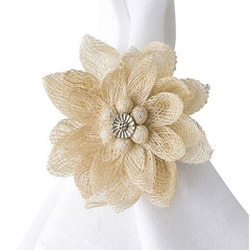 Dahlia Natural Napkin Ring by Juliska