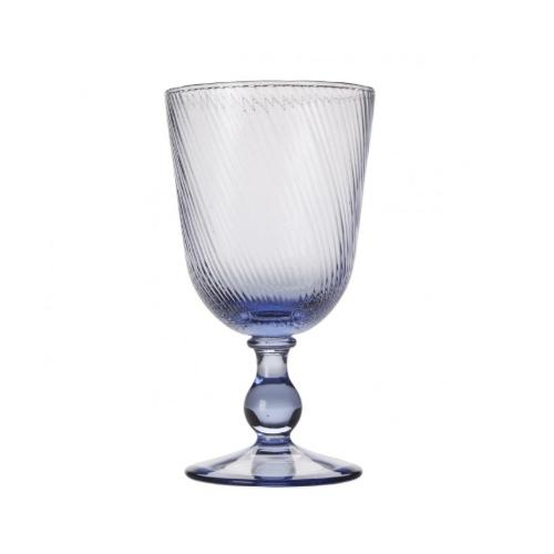 Arabella Delft Blue Footed Goblet by Juliska