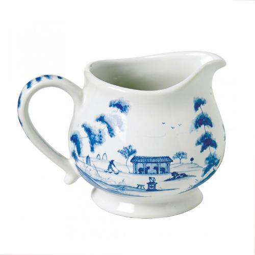Country Estate Delft Blue Creamer, Main House by Juliska