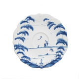 Country Estate Delft Blue Saucer, Garden Follies by Juliska