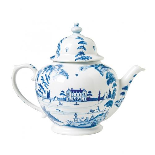 Country Estate Delft Blue Teapot, Main House by Juliska