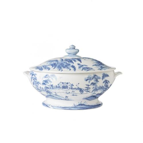 Country Estate Delft Blue Tureen, Main House by Juliska