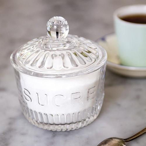 Sucre Glass Sugar Bowl